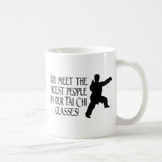 You meet the nicest people coffee mug