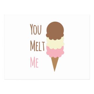 You Melt Me Postcard