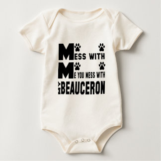 You mess with my Beauceron Baby Bodysuit