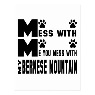 You mess with my Bernese Mountain Postcard