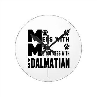 You mess with my Dalmatian Wallclock