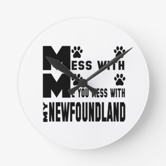 You mess with my Newfoundland Wall Clock