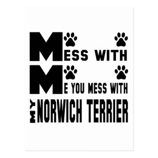 You mess with my Norwich Terrier Postcard