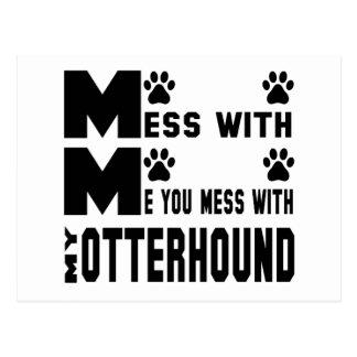 You mess with my Otterhound Postcard