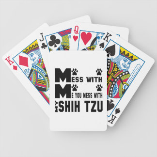 You mess with my Shih Tzu Poker Deck