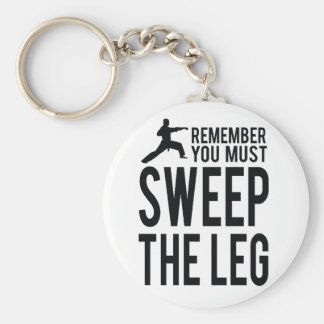 You Must Sweep the Leg Key Ring