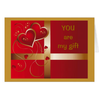 """""""YOU""""-MY GIFT THAT GIVES ALL YEAR LONG-LOVE/CHMAS CARD"""
