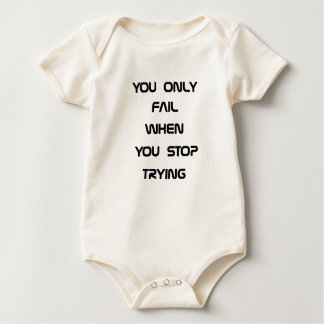you only fail baby bodysuit