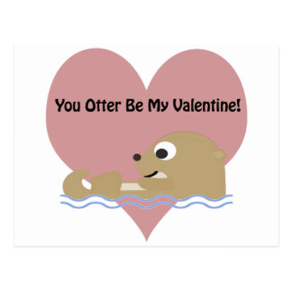 You Otter Be My Valentine Postcard
