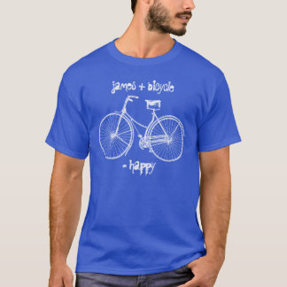 You Plus Bicycle Equals Happy Antique Wheels Bike T-Shirt