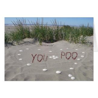 You + Poo = <3 Greeting Card