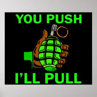 You Push Ill Pull Print