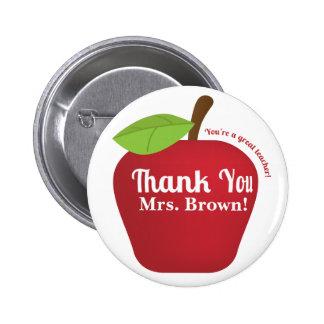 You re a great teacher Teacher appreciation apple Pinback Button