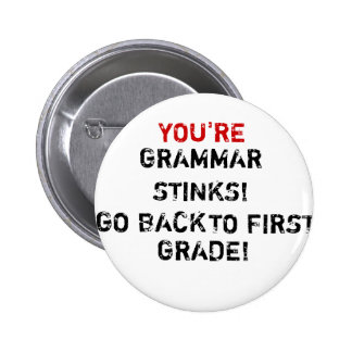 You re Grammar Stinks Pin