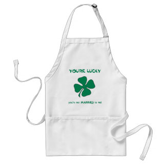 You re Lucky St Patrick s Day Apron
