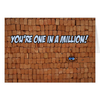 You re one in a million greeting card