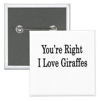You re Right I Love Giraffes Button