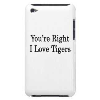 You re Right I Love Tigers Barely There iPod Case