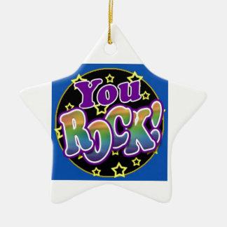 You Rock! Ceramic Ornament