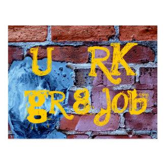 you rock, great job postcard
