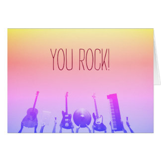 You Rock! Notecards - Customizable Card