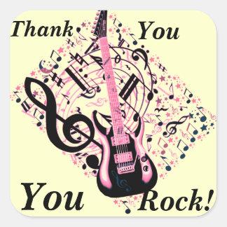 You Rock!_ Square Sticker