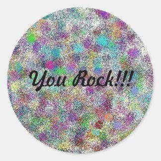 """You Rock!!!"" sticker"