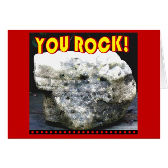 You Rock Thank you Card