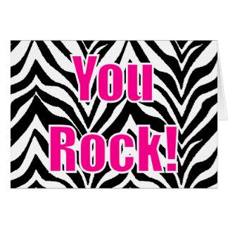 You Rock! Zebra Print Card
