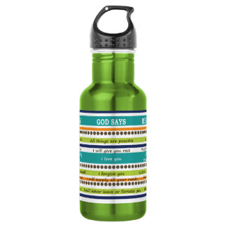 YOU SAY / GOD SAYS -- Inspirational Bible Verses 532 Ml Water Bottle