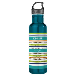 YOU SAY / GOD SAYS -- Inspirational Bible Verses 710 Ml Water Bottle