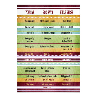 You Say/God Says Inspirational Bible Verses Magnetic Invitations