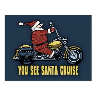 You See Santa Cruise Postcard