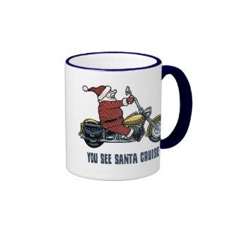 You See Santa Cruise Ringer Mug