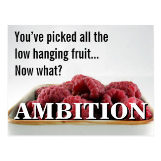 You seem to have no ambition in life postcard
