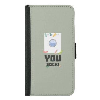 You Sock Funny Slogan Zwq53 Samsung Galaxy S5 Wallet Case