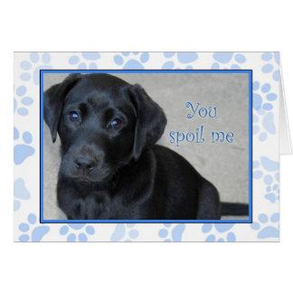 You Spoil Me - I like it! Thank you card