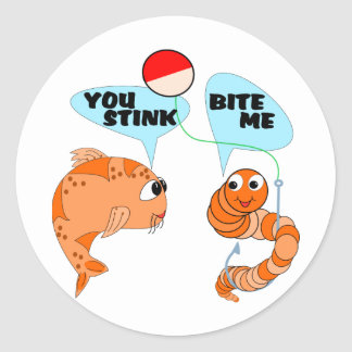 You Stink Bite Me Classic Round Sticker