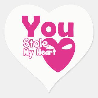 You Stole My Heart Heart Sticker