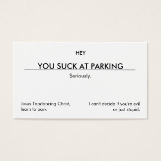 You suck at parking. (clean customizable version)