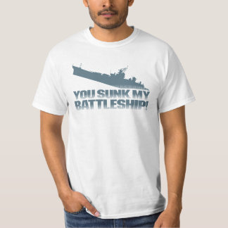 You Sunk My Battleship Retro Typography Quote T-Shirt