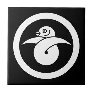 You tie to the circle, the wild goose gold ceramic tile