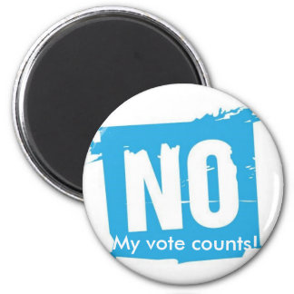 You vote counts! 6 cm round magnet