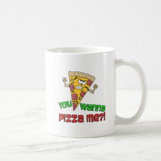You Wanna Pizza Me Funny Cartoon Mug