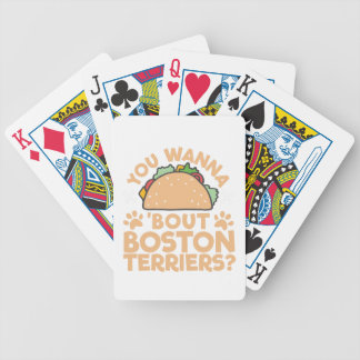 You Wanna Taco Bout Boston Terriers? Bicycle Playing Cards