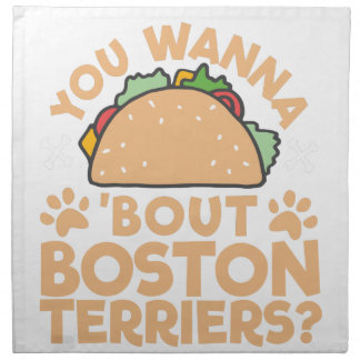 You Wanna Taco Bout Boston Terriers? Napkin