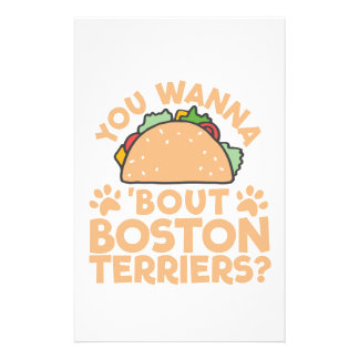 You Wanna Taco Bout Boston Terriers? Stationery