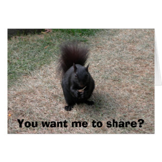 You want me to share? card