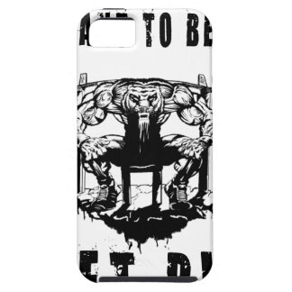 YOU WANT TO BE BIG lift and gym iPhone 5 Cover
