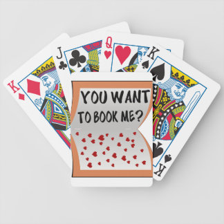 You want to book me? bicycle playing cards
